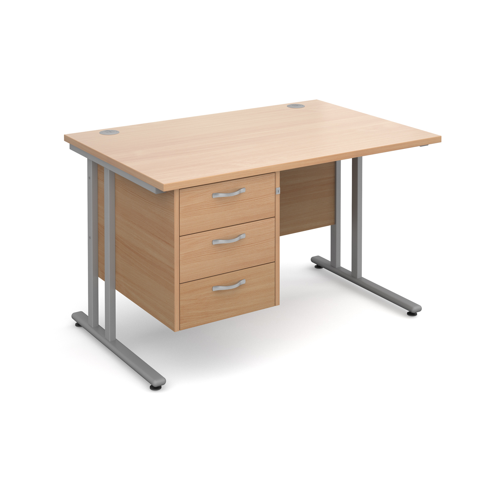 Straight Office Desk With Pedestal 1200MM X 800MM